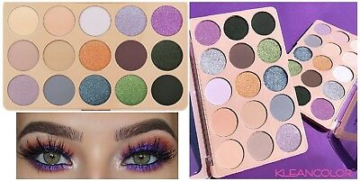 15 Colors Glitter Metallic Shimmer Eye Shadow Palette Cosmetic Makeup Eyeshadow