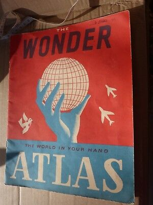 Late 1940s Atlas, pre Korean War, includes USSR and Colonial Africa map book