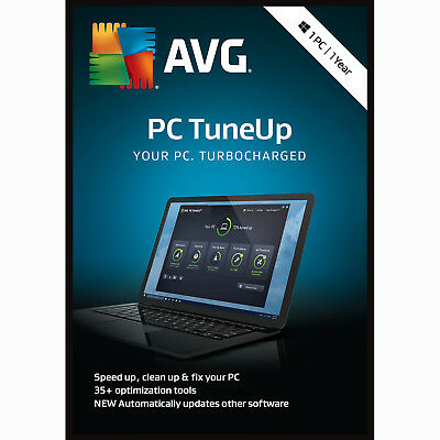 AVG PC TuneUp 2019 1 PC / User / Device 1 Year Clean & Speed Up Download 2018