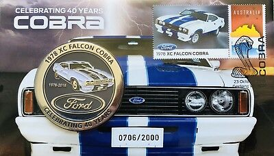 1978 XC Falcon Cobra 40 Years Stamp & Medallion Cover PNC/FDC Limited 706/2000