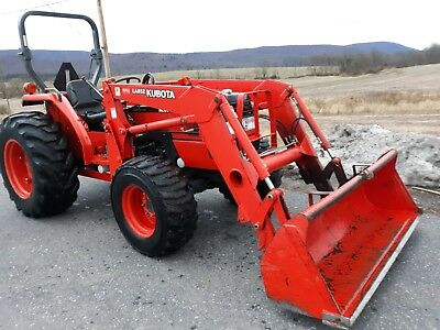 Kubota MX5000D LA852 Loader 52hp 4x4 gear 974 original hrs.1 owner R4 Tires used