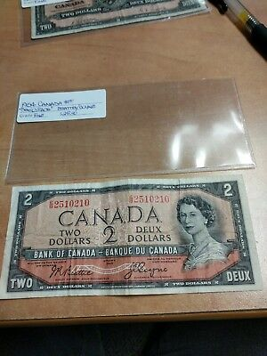 Canada Currency 1954 $2 Note Devil's Face Beattie Coyne