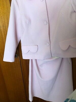 1960s Vintage Baby Pink Skirt And Jacket