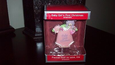 American Greetings Baby Girl's First Christmas Ornament 2013