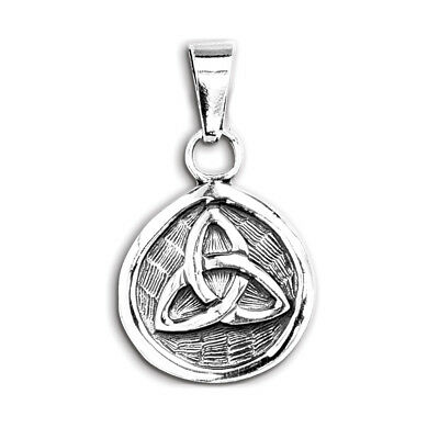 Sterling Silver Celtic Irish Trinity Knot Shield Pendant New