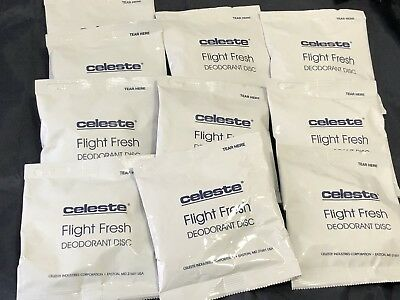 Celeste Flight Fresh Deodorant Disc FRESH BREEZE 10 Pack