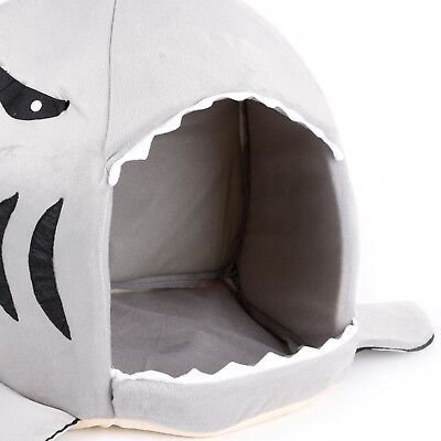 Dog Bed Shark Mouth Shape Plush Toy For Kids Dog Cat Pet Stuffed Toy Cushion Pad