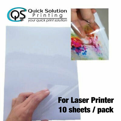 A4 Transparent Clear Glossy Sticker Paper Label for Laser printer 10 sheet/pack