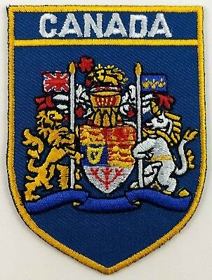 Canada COA Shield Crest Patch Embroidered Iron On Sew On Canadian