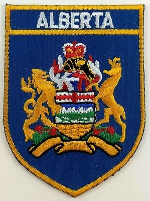 Alberta COA Shield Crest Patch Embroidered Iron On Sew On Canada