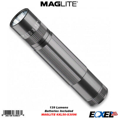 MAGLITE XL50 LED 3-Cell Flashlight 3 AAA Batteries Blue #XL50-S3116