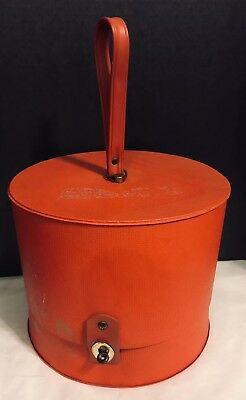 Mid-Century VINTAGE WIG CARRY CASE Hat Box EVERBEST HOLLYWOOD FLORIDA