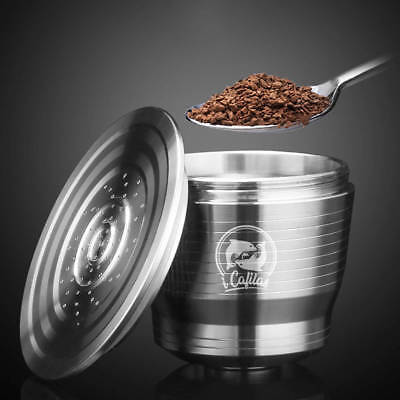 Stainless Steel Coffee Capsule Cup Reusable Refillable Pod For Nespresso AU POST