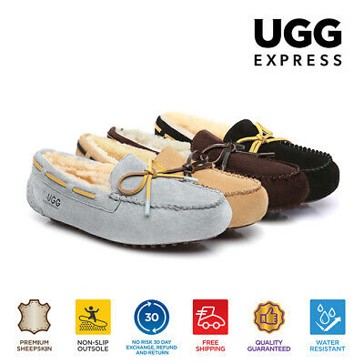 UGG Miracle Moccasin, Mens big size Classic, Water Resistant,  Sheepskin