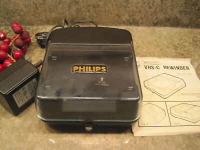 Philips VHS-C compact vhs tape Rewinder Prolong Camcorder Auto Shut off