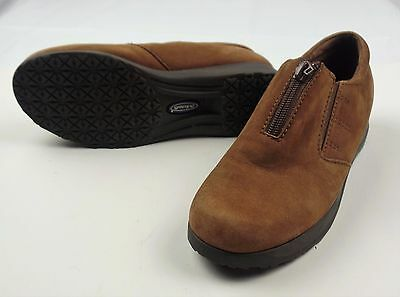 Dr Scholl s Irene Women s Loafers Brown Suede Slip On Zipper Shoes Size 6.5 49543b15bef