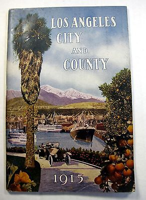 1915 Los Angeles City and County Chamber of Commerce Promo Booklet