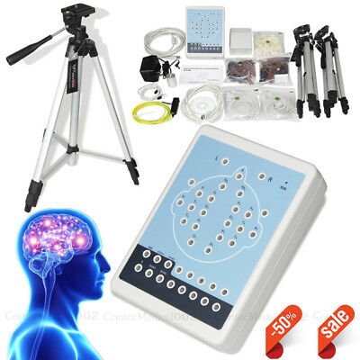 EEG Mapping System 16-Channel EEG Machine Brain Electric Activity Recorder+CD