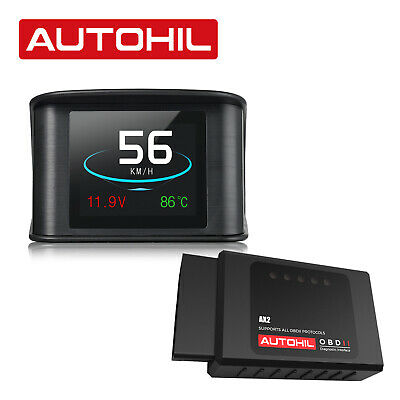 AUTOHIL DEAL - AX2 Car Bluetooth OBD2 Scanner with AVM1 Digital Gauges HUD
