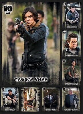 Characters-Hunters&hunted-7 Card Set+Maggie Meld-Topps Walking Dead Card Trader