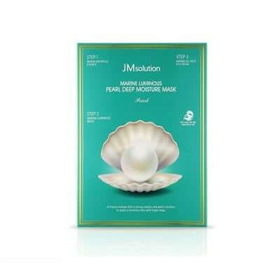 [JM Solution] Solution Marine Luminous Pearl Deep moisture Mask 10ea /Korea Best