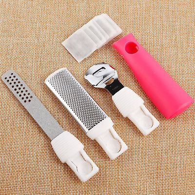 4psc Foot File Pedicure Nail Rasp Dead Skin Callus Remover Tool 10 Blades