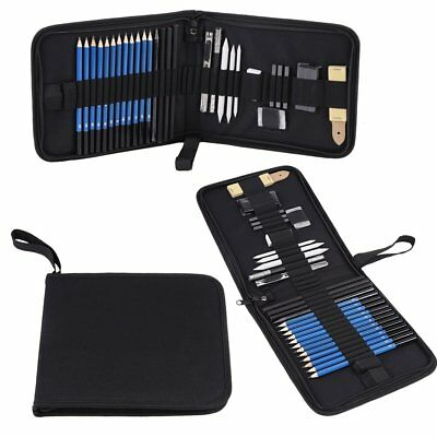 33pcs H&B Sketching Pencils Drawing and Sketch Kit Set with Erasers Charcoal