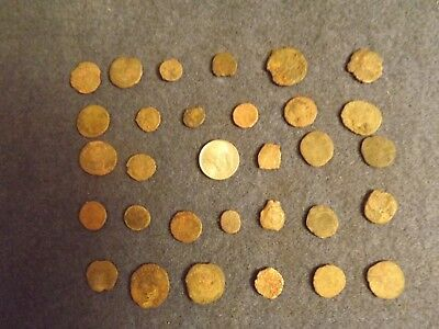 LOT OF 25 ANCIENT BRONZE ROMAN COINS Unclean Mid-Low Grade WWII North Africa 32