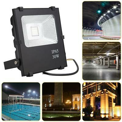 30W LED Flood Light Reflector Spotlight Waterproof Remote Control Lighting Lamp
