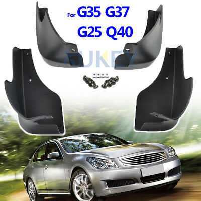 Set Mud Flaps For Infiniti V36 G25 G35 G37 Q40 2007-2015 Splash Guards Mudguards