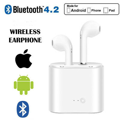 In Ear Wireless Bluetooth EarPods i7S TWS Earbuds iPhone Android Charging Box