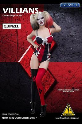 1/6 Scale »Quinzel« Super Hero Lingerie Set Flirty Girl Collectibles Sexy Girls
