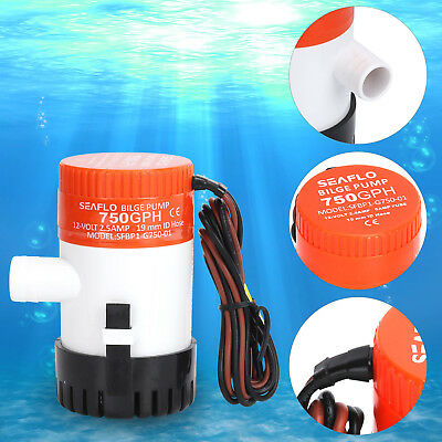 12V 750GPH Submersible Bilge Pump - Marine Boat Yacht Water Ocean Sea UK