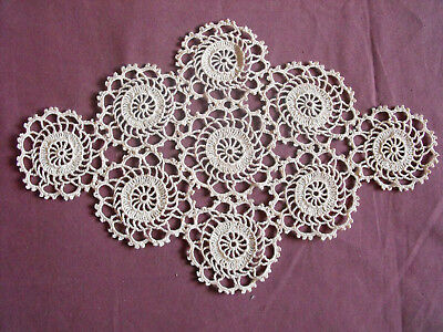 #1293  Beautiful Vintage Hand Made Doily    30cm/19cm(12''x7.5'')