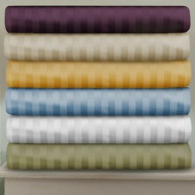 Extra Deep PKT 1 PC Fitted Sheet 1000TC Egyptian Cotton Strip Color AU SuperKing