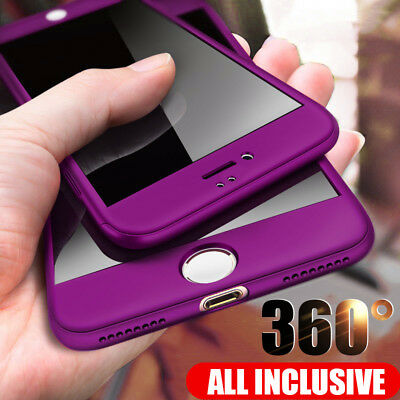 360 Full Protective Phone Case For iPhone XR Xs Max X Cases With Glass 6 6s SE X