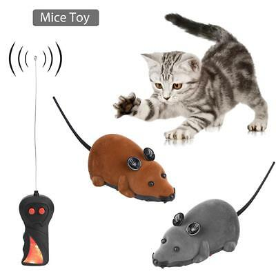Remote Control RC Rat Mouse Wireless For Cat Dog Pet Toy Novelty Gift Funny SS