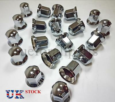 New 20x 32mm Wheel Nut Cover LONG Lux Plastic CHROME Lorry Trailer Bus Truck LKW
