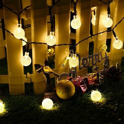 Christmas String Fairy Wedding Yard Party Light 30 LED Solar Powered Lights Lamp