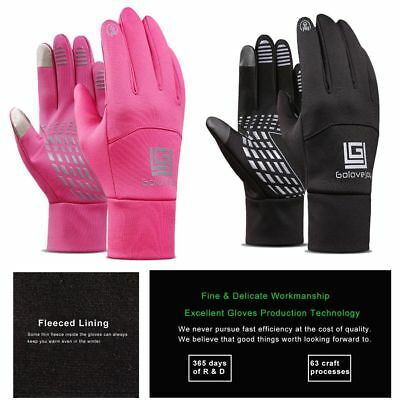 Touch Screen Thicken Riding Gloves Windproof Waterproof Warm Leather Gloves