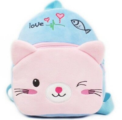 Cat bear Kids Baby Boys Girls Backpacks Cartoon Pre-primary School Bag free ship