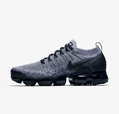 NIKE AIR VAPORMAX FLYKNIT 2 WHITE BLACK 942842-107 Mens Running Shoes