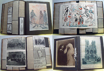 First World War Scrapbooks~Comprehensive Ww1 Archive~1914-1919 Newspaper/artwork