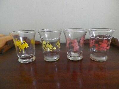 Set of 4 VINTAGE PINK elephant juice glasses and more