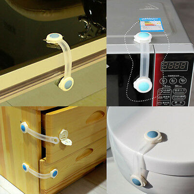 4Pcs Baby Protection Safety Lock Electric Appliance Drawer Door Cabinet Cupboard