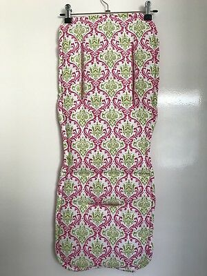 Pink & Lime Damask Universal Pram Liner & Strap Covers  Handmade NEW