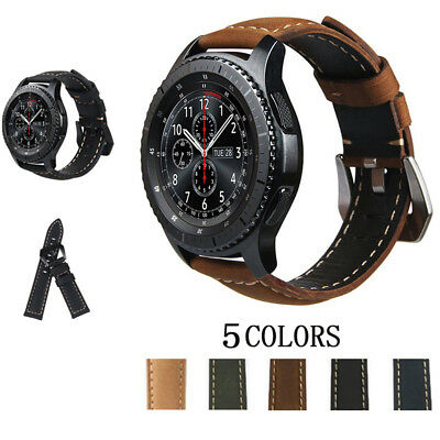 Quick Replace Genuine Leather Watch Band Strap For Samsung Galaxy Watch 42 46mm