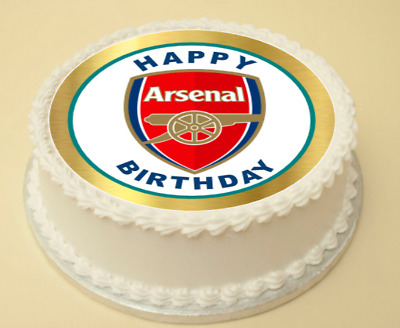 Arsenal  Birthday Edible Cake & Cupcake Topper/decoration Wafer Paper