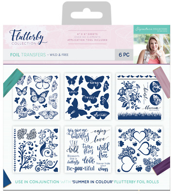 New Sara Davies Flutterby Collection Foil Transfers Wild and Free