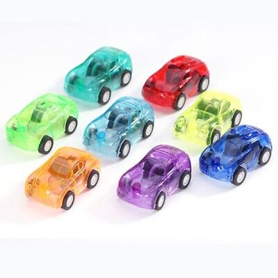 5Pcs Mini Multi-Color Transparent Plastic Pull Back Cars Kids Funny Xmas Toy.